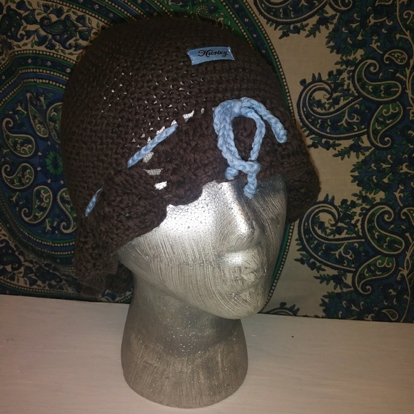 competitive price 402d7 88804 usa hurley one and color hat track brown 7e963 a106d  low cost hurley brown  and blue crochet hat 34158 a57d6
